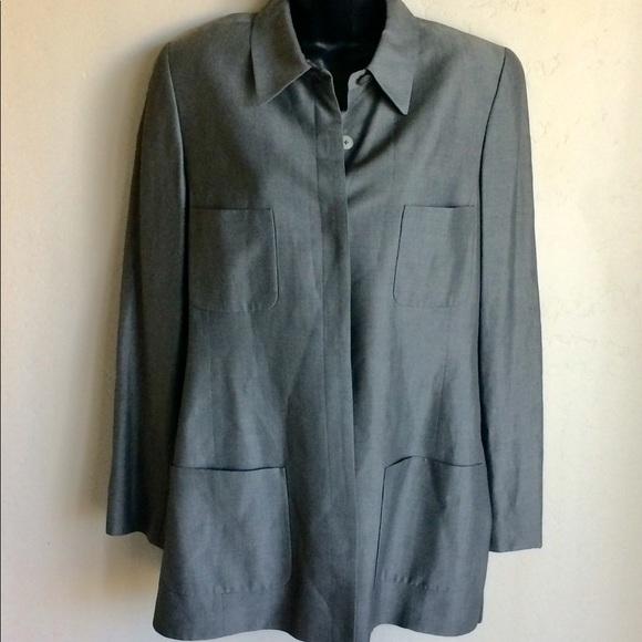 Ellen Tracy Jackets & Blazers - Linda Allard for Ellen Tracy Pantsuit Grey Size 12